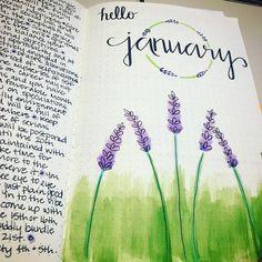 Happy to be starting fresh ☺️❤️✌#bulletjournal #planneraddict #planttheme #january