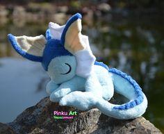 Somnolent Aquali peluche  Pokemon par PinkuArt sur Etsy