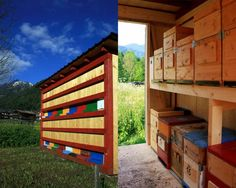 Inspired by the industrious nature of honeybees, architect Massimiliano Dell'Olivo has built a contemporary version of the traditional alpine wooden apiary known as a Bienenhaus.