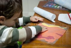 Fall Tissue Paper Suncatcher 3