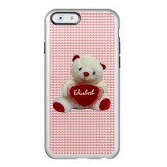 Vintage Valentine Bear iPhone  Feather Case