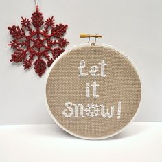 Let it Snow Counted Cross Stitch Pattern More