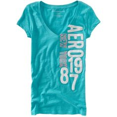 V-Neck Neon Aero Graphic T (32 BRL) ❤ liked on Polyvore featuring tops, t-shirts, girls, shirts, cotton t shirts, blue t shirt, t shirt, slim fitted t shirts and neon shirts