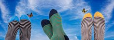 Dore Dore 1819 - www.dore-dore.fr - Discover the new Spring/Summer collection of Dore Dore socks for men - Socks with stripes in cotton lisle for men.