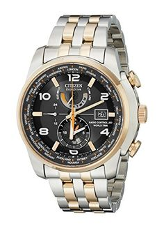 """Citizen Men's AT9016-56H """"World Time A-T"""" Stainless Steel Two-Tone Eco-Drive Watch Citizen http://www.amazon.com/dp/B00DBUVHQW/ref=cm_sw_r_pi_dp_o5U5vb0XWAG3H"""