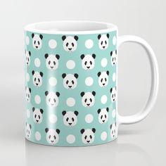 Panda polka dots pattern print minimal trendy kids design pillow cell phone cute…