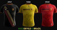Burrda Belgium 2014 World Cup Home, Away and Third Kits Released - Footy Headlines