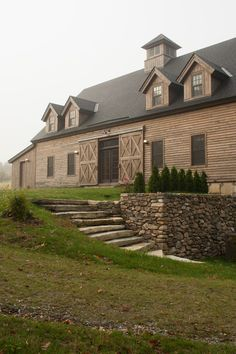 Fabulous Barn House Plans with Basement That Really Awesome: Beautiful Barn Homes Landscape Architect Landscape Design Ideas Landscape Ideas For Front Of House Stone Steps Wooden Siding Green Grass Pole Barn House Plans, Basement House Plans, Pole Barn Homes, Barn Plans, Farmhouse Plans, Modern Farmhouse, Farmhouse Style, Farmhouse Remodel, House Plan With Loft