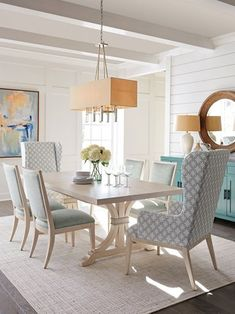 Oceanfront Extension Dining Table, Whitewash - Barclay Butera - Brands One Kings Lane Living Room Chairs, Coastal Dining Room, Dining, Dining Table, Lexington Home, Dining Room Inspiration, Rectangular Dining Table, Living Room Wood, Beach House Dining Room