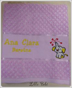 Toalha de lavabo personalizada tema elefantinho #toalhaescolar