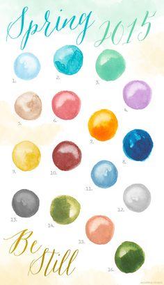 Spring 2015 Color Report | www.mospensstudio.com