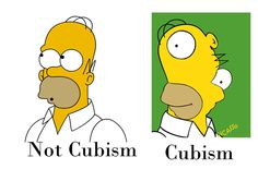 This is a way to explain Cubism to kids.