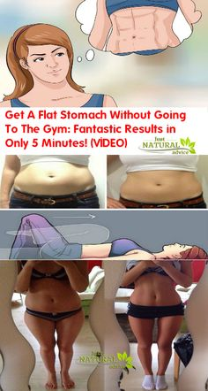 Get A Flat Stomach Without Going To The Gym: Fantastic Results in Only 5 Minutes! (VIDEO)