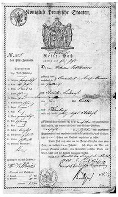 Passissa oli tuohon aikaan lueteltu paljon passinhaltijan ominaisuuksia tunnistamista varten, koska valokuvia ei ollut. Tämän lokakuussa 1953 myönnetyn passin mukaan Wilhelm oli uskonnoltaan evankelinen, 36 -vuotias, 5 jalkaa ja 3 tuumaa pitkä (n. 158 cm), hiukset mustat, silmät ruskeat, nenä pitkä, kulmakarvat ja parta mustat, posket sileät, kasvot pitkänomaiset, olemus hoikka, erityistuntomerkkejä ei ollut.  Lisää passista sukuseuran sivulla! .