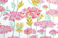 Liberty Princess Emerald Pink Green floral Liberty by PickClickSew,