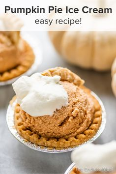 Pumpkin pie ice cream is a delicious fall treat that tastes just like pumpkin pie. This easy homemade ice cream is made with milk, cream, brown sugar, pumpkin puree, and pumpkin pie spice. You'll love it! #theendlessmeal #pumpkinpieicecream #pumpkinpie #pumpkin #pumpkinicecream #icecreampie #pie #icecream #autumn #fall #autumnicecream #thanksgiving #pumpkindessert #pumpkinrecipe #homemadeicecream