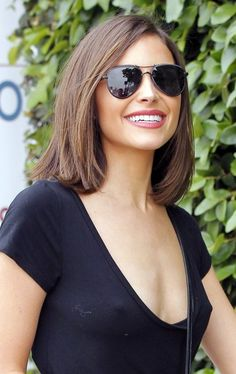 Olivia Culpo Mid-Length Bob - Olivia Culpo kept it classic and cute with this lob while out and about in West Hollywood.