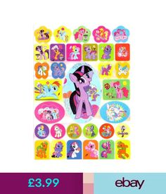 Home Decor My Little Pony Stickers Coloring Book Ebay Garden