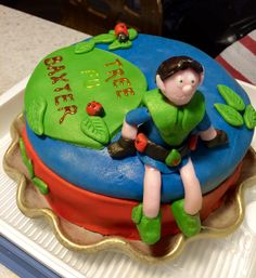 Tree fu Tom birthday cake- homemade!