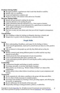 examples of job skills to list in a resume My Works Skills List for Jen Job Interview Preparation, Interview Skills, Job Interview Tips, Job Interview Questions, Job Interviews, Job Resume, Resume Tips, Resume Examples, Cv Tips