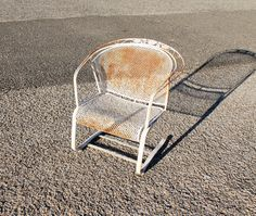 Spring Lawn Chair, Outdoor Patio Furniture, Metal Patio Chairs, Mid Century  Modern By