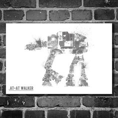 """Star Wars Vehicle // AT-AT Walker (16""""L x 12""""H) by Harshness, $19 !!"""
