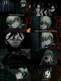 Alucard being proud of Seras. My Fave moment in hellsing ultimate, Seras x Alucard