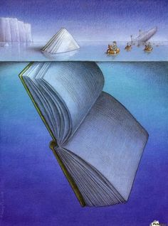 50 illustrations that cleverly describe the fascination of books. Illustration by Pawel Kuczynski. You are in the right place about global warming Satire Here we offer you the most beautiful pictures I Love Books, Good Books, Books To Read, Amazing Books, Satire, Satirical Illustrations, Reading Art, Reading Room, What Book