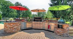 An outdoor kitchen is just one of the tips of How to Create the Perfect Party Patio