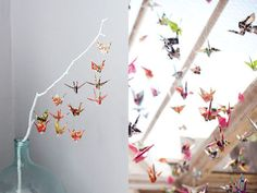 Mobile made from origami?
