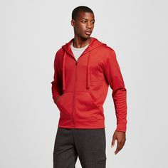 Men's Big & Tall Sizes Tech Fleece Full Zip Hoodie Scarlet (Red) 3XL - C9 Champion, Size: Xxxl