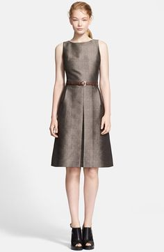 Michael Kors Glen Plaid Jacquard Tweed A-Line Dress available at #Nordstrom
