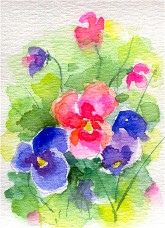 Pansies - Watercolor