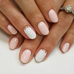 маникюр - дизайн ногтей Weding Nails, Wedding Manicure, Bridal Nail Art, Nail Inspo, Nails Now, My Nails, Pastel Nails, Nude Nails, Professional Nails