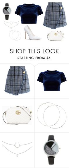 """""""New Years Eve 2017 Look 1"""" by carolinecorradine on Polyvore featuring Chicwish, Gucci, BKE and NewYearsEve"""