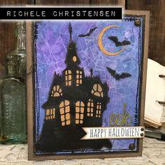 me: spooky house thinlit 2017 inspiration series: sizzix alterations halloween…   Tim Holtz Halloween Tags, Halloween Clipart, Halloween Projects, Halloween Themes, Halloween Decorations, Halloween 2017, Fun Projects, 2017 Inspiration, Card Making Inspiration