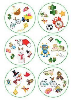 Double Christmas and toys Christmas Puzzle, Kids Christmas, Christmas Crafts, Kindergarten Games, Classroom Games, Games For Kids, Activities For Kids, Crafts For Kids, Christmas Speech Therapy