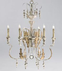 New French Chateau Acanthus Leaf Chandelier 6 Light Tuscan Iron Downton Abbey, Designer Fixture, Traditional home, French chandelier,  Shabby Chic Cottage decor, Tuscan chandelier, chateau, Elle decor, provence, pierre deux French Country Farmhouse, Dining Room, Entry Foyer, Hallway, Bathroom, Home Office/Study, Living Room Light Fixture