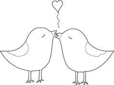 kleurplaat liefde vogels dieren kleurplaten knutselen