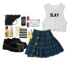 """Don't give a f*"" by carliroda ❤ liked on Polyvore featuring Dr. Martens, Maybelline, i am a and Forever 21"