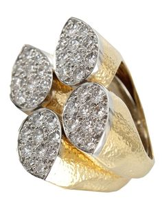 DAVID WEBB Diamond Teardrop Ring