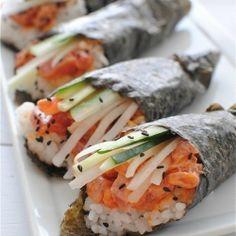 Spicy Tuna Hand Rolls!