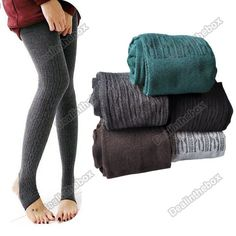 Cheap winter leggings women, Buy Quality slimming leggings directly from China winter leggings Suppliers: Jeggings Winter Warm Women Cotton Slim Leggings Winter Leggings Women Mayas Mujer Winter Leggings, Warm Leggings, Knit Leggings, Knitted Tights, Wool Tights, Warm Pants, Stirrup Leggings, Tight Leggings, Leggings Are Not Pants