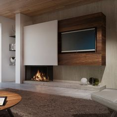 Here you will find photos of interior design ideas. Get inspired! Small Living Room Design, Living Room Tv, Cozy Living Rooms, Living Room Modern, Interior Design Living Room, Living Room Designs, Lcd Unit Design, Tv Wanddekor, Tv Feature Wall