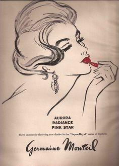 Cosmetic Illustrated Advertisement, Germaine Monteil, 1962
