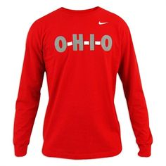 Ohio State Buckeyes Youth Nike Scarlet Local Long Sleeve T-Shirt Ohio State University, Ohio State Buckeyes, Huge Sale, Scarlet, Youth, Nike, Sweatshirts, Long Sleeve, Sweaters