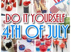 Ready to celebrate the 4th of July Holidayand party infull DO IT YOURSELF style? I freaking LOVE celebrating ANY TIME I can do it up all out RED, WHITE and BLUE!  Memorial D…