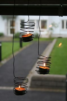 """DIY Wire Lanterns - I'm absolutly crazy about all kinds of """"lanterns""""...and a wedding with lots of candles & lights is just so beautiful (and it also photographs well)...so maybe this is an easy and affordable diy-solution =) (you may use black / silver / gold wire or any other colour you find & like)"""