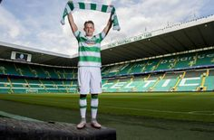 Scott Allan in his new colours at Celtic Park yesterday. The Man, Celtic, Career, Colours, Park, Pictures, Photos, Carrera, Parks