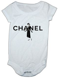 Chanel IGalmour nspired baby onesie by LuluBellababyTrends on Etsy, $16.99